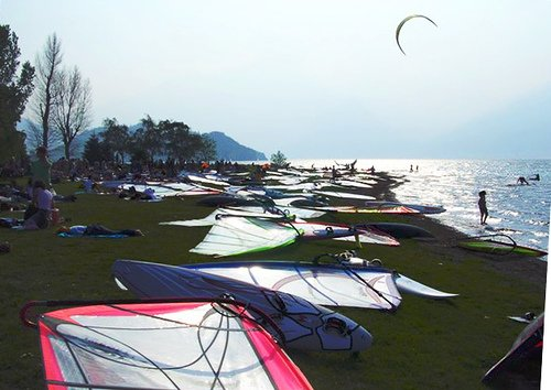 Windsurf a Colico, Lago di Como