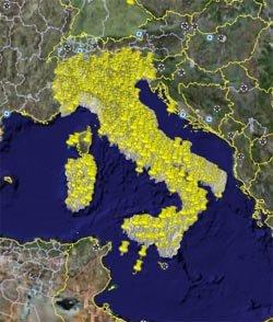 Mappa B&B Italia