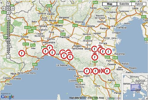 Mappa autovelox