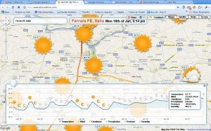 Il meteo sulle mappe di Google